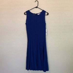 Calvin Klein fit and flare sleeveless dress. NWT